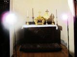 151 - Cesena - Abbazia di Santa Maria del Monte. SALA CAPITOLARE. Quasi adiacente alla Cripta si trova una grande sala dal soffitto ad ombrello, che nel '500 era adibita a sagrestia. Si conservano di quel periodo gli affreschi delle lunette, del tondo centrale e dell'abside di Girolamo Marchesi. In particolare in questa foto si nota l'Assunzione di Maria e la sua Incoronazione.