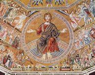 125 -Firenze - Dettaglio Cupola del Battistero di S. Giovanni - Cristo Giudice nel Giudizio Universale.