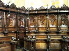155 - Cesena - Abbazia di Santa Maria del Monte. IL CORO- Particolare del coro.