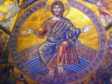 126 - Firenze - Battistero. Il mosaico del Giudizio Universale su tre spicchi della cupola.