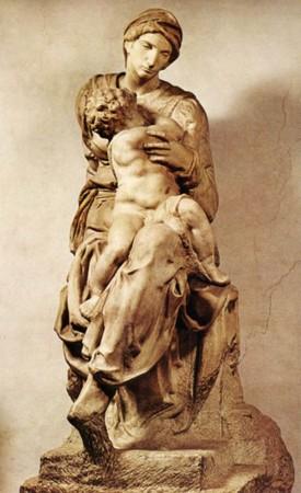 140 -Firenze. Il Museo. Michelangelo, Madonna Medici.