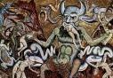 129 - Firenze. Mosaici del Battistero di Coppo di Marcovaldo. Dettaglio.