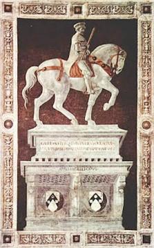 150 - Firenze. Il Museo. Monumento equestre de Paolo Uccello (1436)