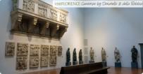 156 - Firenze. Museo. La sala principale del secondo piano ospita due cantorie in pietra, che prima erano in Duomo: una scolpito da Luca della Robbia (1431-38), l'altra da Donatello (1433-39). E' possibile quindi confrontare questi due grandi artisti del Rinascimento: i bambini del della Robbia sono calmi e vivaci mentre cantano; l'opera di Donatello trasmette invece un certo vigore.