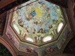 137 - LA CUPOLA. La cupola per molti è considerata la parte più affascinante dell'Abbazia. La decorazione pittorica della cupola, raffigurante l'Assunzione di Maria, è opera di Giuseppe Milani da Parma, nel 1792.