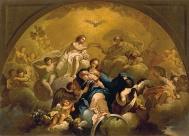 133 - Bozzetti per la cupola della Basilica della Madonna del Monte di Cesena- Incoronazione della Vergine