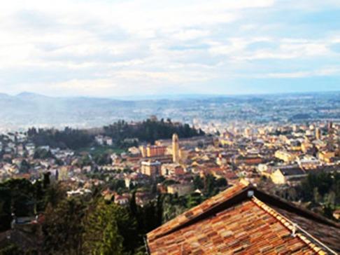 162 - FOTO DI CESENA. Particolare della città di Cesena dall'alto della torretta dall'Abbazia.