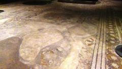 93 - Firenze. Cripta di Santa Reparata- particolare