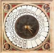 50 - Firenze. Controfaccia . Dettaglio dell'orologio italico di Paolo uccello.