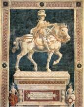53 - Monumento equestre di Niccolò da Tolentino di Andrea del Castagno (1456)