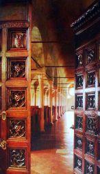 44 - Cesena, interno della biblioteca Malatestina
