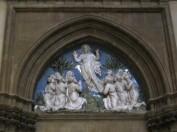 61 - Firenze. Santa Maria del Fiore. Sagrestia delle messe, ascensione di luca della robbia