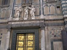 109 -Fienze. Particolare del Battistero di San Giovanni, sopra la porta paradiso.