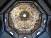 27 - Firenze . Duomo. Interno della cupola con l'affresco del Giudizio universale, iniziato da Giorgio Vasari e per la maggior parte completato da Federico Zuccari e collaboratori