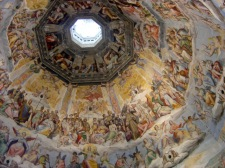 28 - Firenze . Duomo. Veduta ravvicinata degli affreschi .