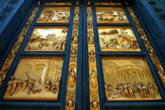 111 -Firenze. Battistero. Porta est. del Paradiso. Particolare della Porta del Paradiso.