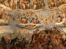 28 - Firenze . Duomo, dettaglio- dell'affresco cupola