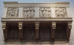 176 - Firenze. Museo- La Cantoria di Luca della Robbia è un'opera scolpita per la cattedrale di Santa Maria del Fiore di Firenze ed oggi conservata nel Museo dell'Opera del Duomo, davanti all'altra cantoria di Donatello. Considerata uno dei capolavori del primo rinascimento fiorentino, fu scolpita tra il 1431 e il 1438 ed è alta 348 cm.