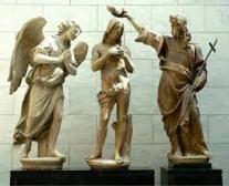 141 - Museo dell'Opera di Santa Maria in Fiore. Particolare sopra la porta paradiso del Battistero.