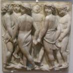 178 - Firenze. Il Museo dell'Opera del Duomo. Particolare della Cantoria di Luca della Robbia..