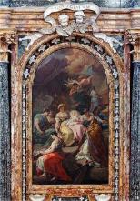 66 - Cesena - L'interno barocco della chiesa di Santa Maria del Suffragio, particolare.