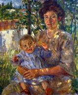39 - Cesena Pinacoteca Comunale. Madre con bambino di Gino Barbieri