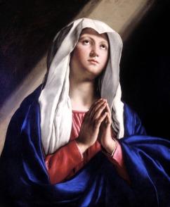35 - Cesena Pinacoteca Comunale. Vergine in preghiera con gli occhi rivolti verso il cielo del Sassoferrato