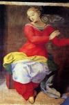102 - Cesena. Interno Chiesa di S. Agostino. Annunciazione dettaglio