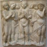 184 - Firenze. Il Museo dell'Opera del Duomo. Particolare della Cantoria di Luca della Robbia..
