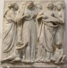 185 - Firenze. Il Museo dell'Opera del Duomo. Particolare della Cantoria di Luca della Robbia..