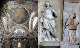 9,1 - Cesena Cattedrale (a sinistra) Cappella della Madonna del Popolo; (centro), S. Eustachio di Lorenzo Bregno; (a destra), un donatore di Giovanni Battista Bregno