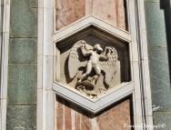 80 - Firenze. Campanile di Giotto, particolare. Dedalo nella formella. Andrea Pisano