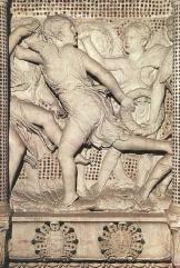 160 - Il Museo dell'Opera del Duomo. Particolare della Cantoria d Donatello.