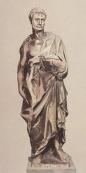167 - Firenze. Il Museo dell'Opera del Duomo. Profeta Geremia, marmoCm 195 x 54 x 38. Statua scolpita da Donatello per il campanile di Giotto. sulla statua c'è la firma apocrifa di Donatello.