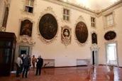 88 - Cesena Palazzo Ghini. Il salone ornato da tele mitologico-allegoriche (1719-1721) del bolognese Giacomo Bolognini.