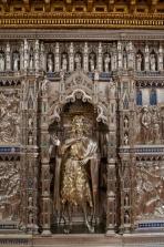 154 - Firenze. Il Museo dell'Opera del Duomo. Altare d'argento del Battistero di San Giovanni. Particolare