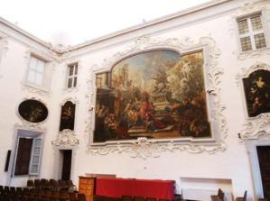 91 - Cesena Palazzo Ghini. Il salone ornato da tele mitologico-allegoriche (1719-1721) del bolognese Giacomo Bolognini.
