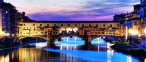108 -Firenze. Ponte vecchio al tramonto.