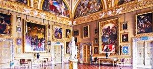 116 -Firenze. Palazzo Pitti, interno gallerie Palatina.