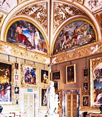 117 -Firenze. Palazzo Pitti, interno gallerie Palatina.
