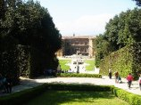 134 - Firenze. Palazzo Pitti e i giardini Boboli.