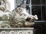 38 - Firenze Piazza Signoria - Ercole e Caco, particolare il cinghiale.