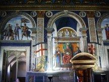 73 - Firenze. Palazzo Vecchio - Sala dei Gigli. Affreschi di Domenico Ghirlandaio.