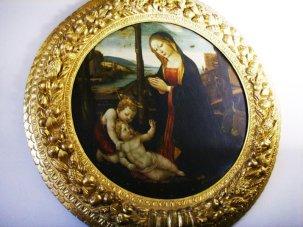 77 - Firenze. Palazzo Vecchio - Nella sala di Ercole è custodita una Madonna col Bambino e San Giovannino