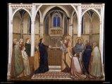 86 - Firenze. Galleria degli Uffizi - sala 3. Ambrogio e Pietro Lorenzetti Presentazione al tempio