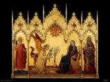87 - Firenze. Museo Galleria degli Uffizi - sala 3.Simone Martini L'Annunciazione.