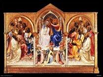 89 - Firenze. Galleria degli Uffizi sala 4. Incoronazione della Vergine - Lorenzo Monaco.