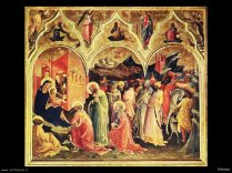90 - Firenze. Galleria degli Uffizi sala 6 - Adorazione dei Magi - Gentile da Fabriano