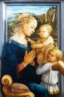 92- Firenze. Galleria degli Uffizi sala 8. Madonna col Bambino e due angeli. Filippo Lippi