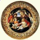 94 - Firenze. Galleria degli Uffizi sale del Botticelli 10- 11- 12 -13 14 -Madonna del Magnificat di Botticelli.